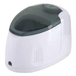 An ultrasonic denture cleaner