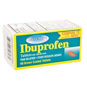 A box of ibuprofen