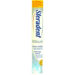 Steradent, a common denture cleaner