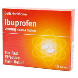 Ibuprofen can help with teeth whitening sensitivity