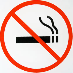 No smoking!