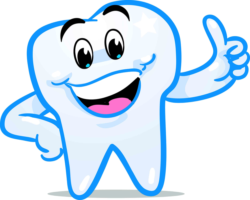happy tooth cartoon