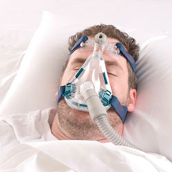 dry mouth at night - a CPAP mask