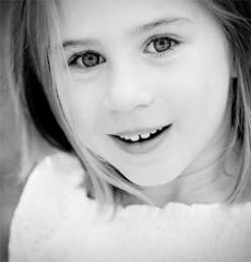 Young girl looking happy