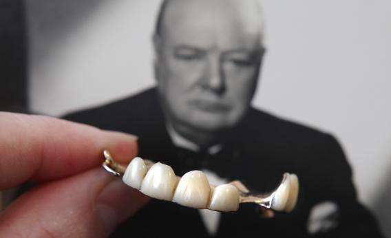 Winston Churchill's dentures