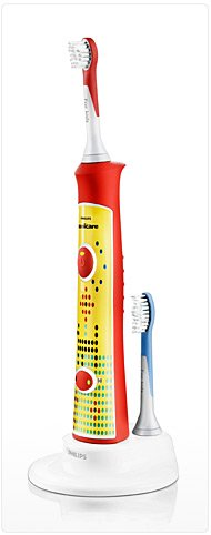 Philips Sonicare for Kids toothbrush with a yellow handle.